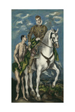Saint Martin and the Beggar, 1597-1600 Giclee Print by  El Greco