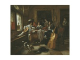 The Family Concert, 1666 Giclee Print by Jan Havicksz Steen