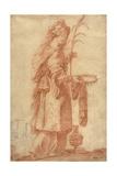 Samian Sibyl, C.1630 Giclée-Druck von Claude Vignon