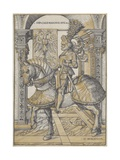 Equestrian Portrait of the Emperor Maximilian I, 1508 Giclee Print by Hans Burgkmair