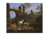 Pastoral Landscape with Ruins, 1664 Giclee Print by Adriaen van de Velde