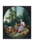 Are They Thinking About the Grape, 1747 Giclée-tryk af Francois Boucher
