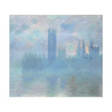 Houses of Parliament, London, 1900-01 Giclee Print by Claude Monet