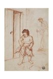 Study of Two Figures, 1710-15 Giclée-tryk af Giuseppe Maria Crespi