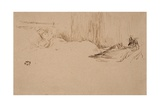 Girl Reading in Bed, C.1882 Giclee Print by James Abbott McNeill Whistler