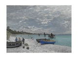 The Beach at Sainte-Adresse, 1867 Giclee Print by Claude Monet