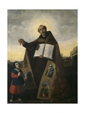 Saint Romanus of Antioch and Saint Barulas, 1638 Giclee Print by Francisco de Zurbaran