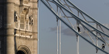 Tower Bridge with Construction Workers, London Photographic Print by Richard Bryant