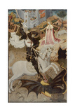 Saint George Killing the Dragon, 1434-35 Giclee Print by Bernardo Martorell
