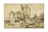 Kostverloren Castle in Decay, 1652-57 Giclee Print by  Rembrandt van Rijn