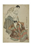 The Actors Ichikawa Yaozo III as Fuwa Banzaemon and Sakata Hangoro Lll as Kosodate Kannonbo, 1794 Giclee Print by  Toshusai Sharaku