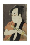 The Actor Ichikawa Omezo as the Manservant Ippei, 1794 (Colour Woodblock Print; Oban) Giclee Print by  Toshusai Sharaku
