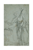 Two Ecclesiastics: Study for the Disputation on the Holy Sacrament, 1606-10 Giclee Print by Francesco Vanni
