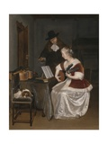 The Music Lesson, C.1670 Giclee Print by Gerard ter Borch