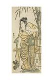 The Actor Ichikawa Komazo as a Woman with Dishevelled Hair, C.1791 Giclee Print by Katsushika Hokusai
