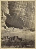 Ancient Ruins in the Canyon De Chelly, N.M., in a Niche 50 Feet Above Present Canyon Bed, 1873 Photographic Print by Timothy O'Sullivan