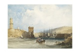 The Entrance to the Harbour of Marseilles, C.1838 Giclee Print by William Callow