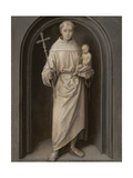 Saint Anthony of Padua, 1485-90 Gicléetryck av Hans Memling