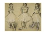 Three Studies of a Dancer in Fourth Position, 1879-80 Giclée-tryk af Edgar Degas