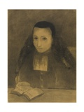 The Little Abbot Reading the Ramayana, 1883 Giclee Print by Odilon Redon