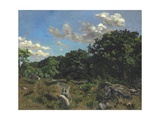 Landscape at Chailly, 1865 Giclee Print by Jean Frederic Bazille