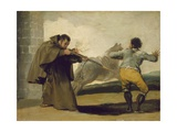 Friar Pedro Shoots El Maragato as His Horse Runs Off, C.1806 Giclee Print by Francisco de Goya