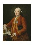Don José Moñino Y Redondo, Conde De Floridablanca, C.1776 Giclée-tryk af Pompeo Girolamo Batoni
