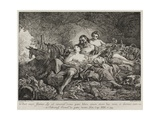 Lot and His Daughters, 1748 Giclée-Druck von Joseph-marie Vien The Elder