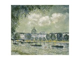 Landscape Along the Seine with the Institut De France and the Pont Des Arts, C.1875 Giclee Print by Alfred Sisley