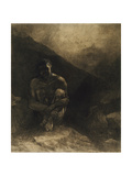 Primitive Man, 1872 Giclee Print by Odilon Redon