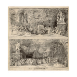 Scenes from the Tuileries: the Chairs and the Water Cart, 1760, Retouched 1763 Giclee Print by Gabriel De Saint-aubin