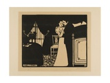 The Fine Pin, Plate Three from Intimacies, 1898 Giclee Print by Felix Edouard Vallotton