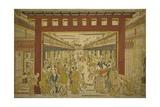 Nakanocho in the Yoshiwara Giclee Print by Okumura Masanobu