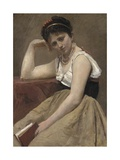Interrupted Reading, C.1870 Giclee Print by Jean Baptiste Camille Corot