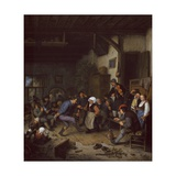 Merrymakers in an Inn, 1674 Giclee Print by Adriaen Jansz. Van Ostade
