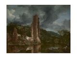 Landscape with the Ruins of the Castle of Egmond, 1650-55 Giclee Print by Jacob van Ruisdael