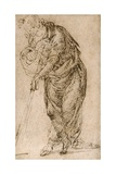 Standing Figure Leaning on a Staff, C.1510 Giclee Print by Piero di Cosimo