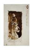 Sketch after the Portrait of Rosa Corder, C.1879 Giclee Print by James Abbott McNeill Whistler