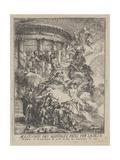 Allegorie Des Mariages Faits Par La Ville De Paris a La Naissance Du Duc De Bourgogne, 1751 Giclee Print by Gabriel De Saint-aubin