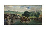 The Races at Longchamp, 1866 Giclee Print by Edouard Manet