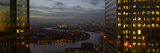 London Panorama from Citigroup Tower at Dusk with Lights in Windows Towards the River Thames Photographic Print by Richard Bryant