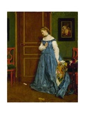 Hesitation, Possibly Madame Monteaux, C.1867 Giclee Print by Alfred Emile Stevens