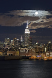 Manhattan, Moonrise over the Empire State Building Photographic Print by Gavin Hellier
