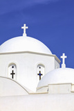 Church at Kambos, Patmos, Dodecanese, Greek Islands, Greece, Europe Photographic Print by Neil Farrin