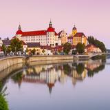 Neuburg Castle Reflected in the River Danube at Dawn, Neuburg, Neuburg-Schrobenhausen Photographic Print by Doug Pearson