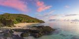 Octopus Resort and Waya Island at Sunset, Yasawa Islands, Fiji Photographic Print by Ian Trower