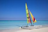 Cuba, Varadero, Catamaran on Varadero Beach Photographic Print by Jane Sweeney