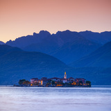 The Idyllic Isola Dei Pescatori (Fisherman's Islands) Illuminated at Dusk, Borromean Islands Photographic Print by Doug Pearson