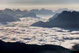 Low Fog at Agordino, from Le Selle Pass, Trentino Alto Adige, Italy Photographic Print by  ClickAlps