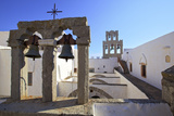 The Bell Towers at the Monastery of St. John at Chora, Patmos, Dodecanese, Greek Islands, Greece Photographic Print by Neil Farrin